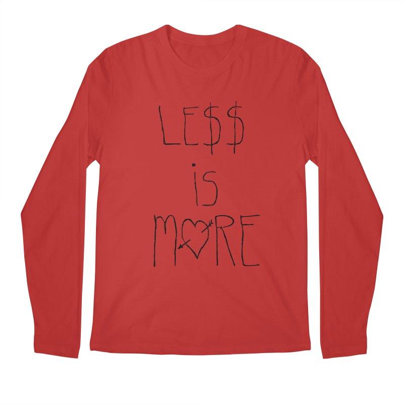 Le$$ is More Men's Longsleeve T-Shirt by divinedesign's Artist Shop