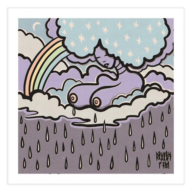 Makin' it RAIN! Home Fine Art Print by DIVINE FEM