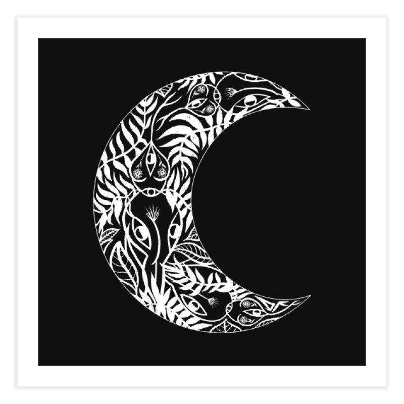 Wild Moon Home Fine Art Print by DIVINE FEM