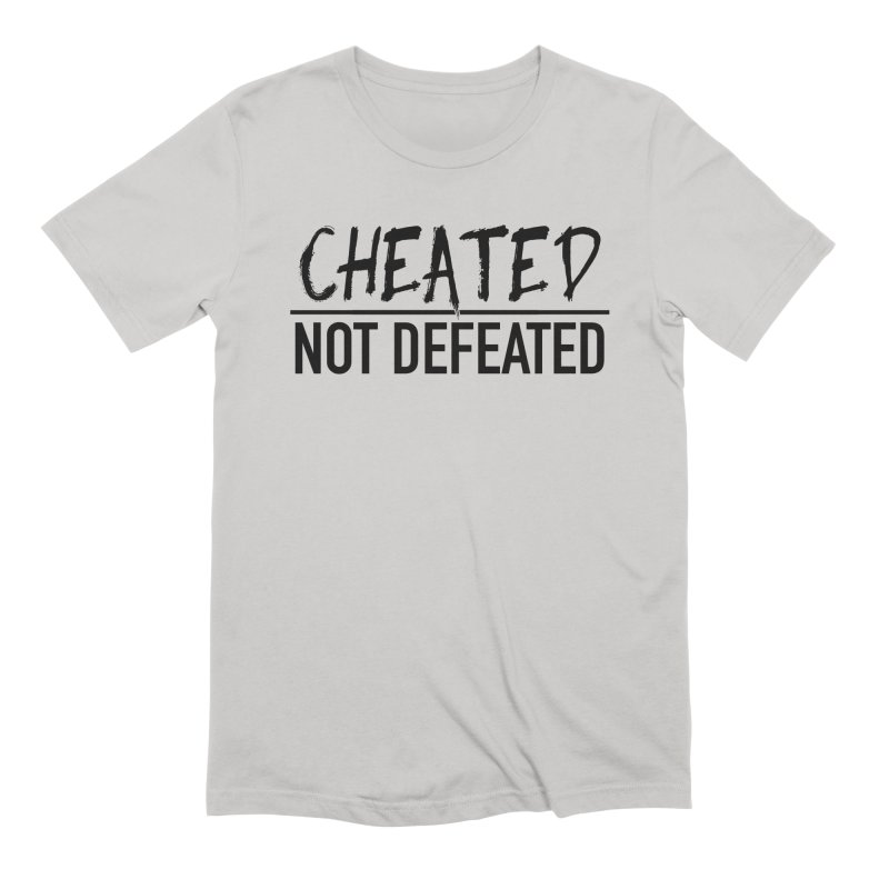 Cheated Not Defeated - Black Logo Men's T-Shirt by