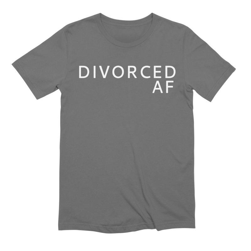 Divorced AF - White Logo Men's T-Shirt by