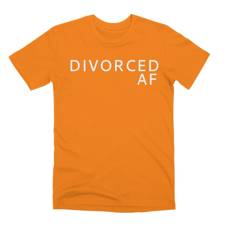 Divorced AF - White Logo Men's T-Shirt by