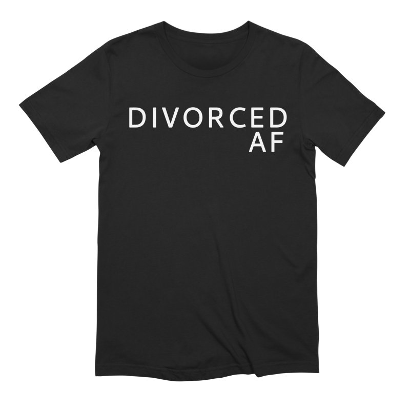 Divorced AF - White Logo in Men's Extra Soft T-Shirt Black by