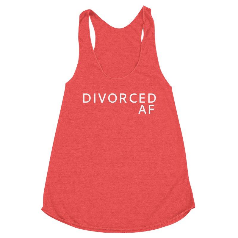 Divorced AF - White Logo Women's Tank by