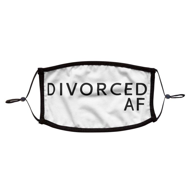 Divorced AF - Black Logo Accessories Face Mask by