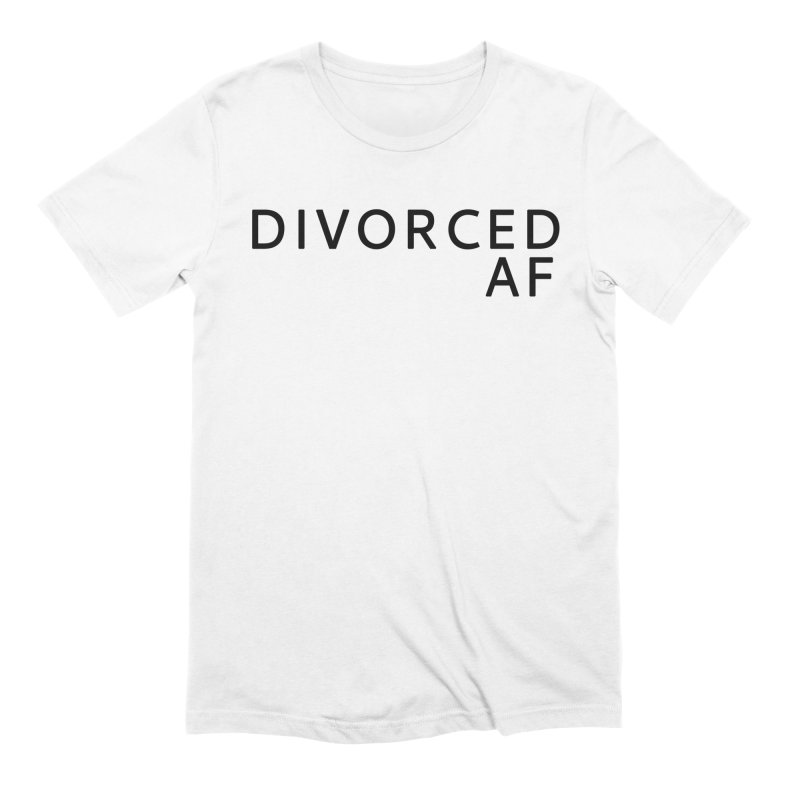 Divorced AF - Black Logo in Men's Extra Soft T-Shirt White by