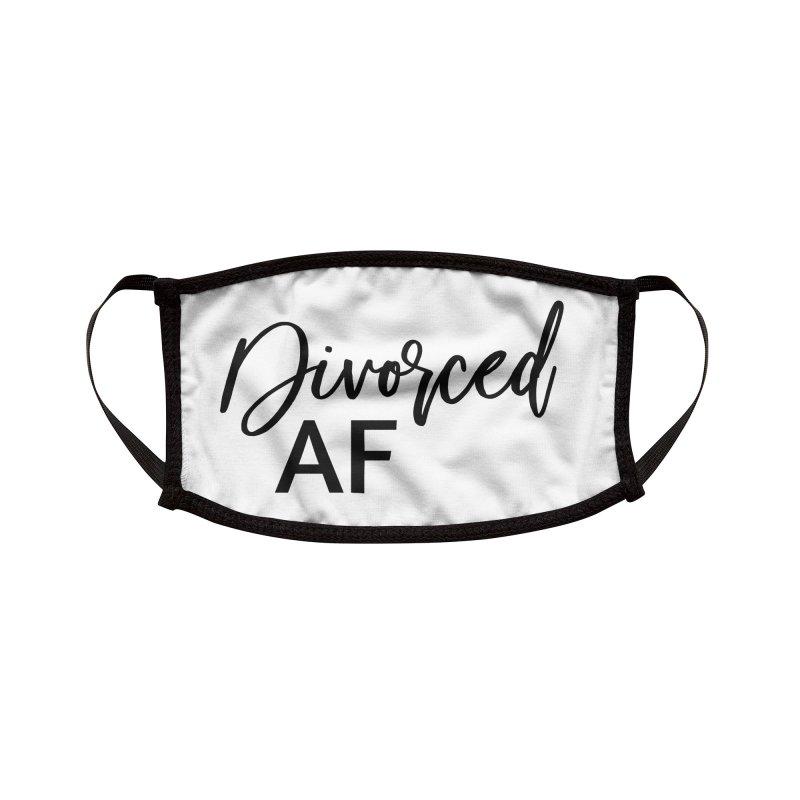 Divorced AF 2 - Black Logo Accessories Face Mask by