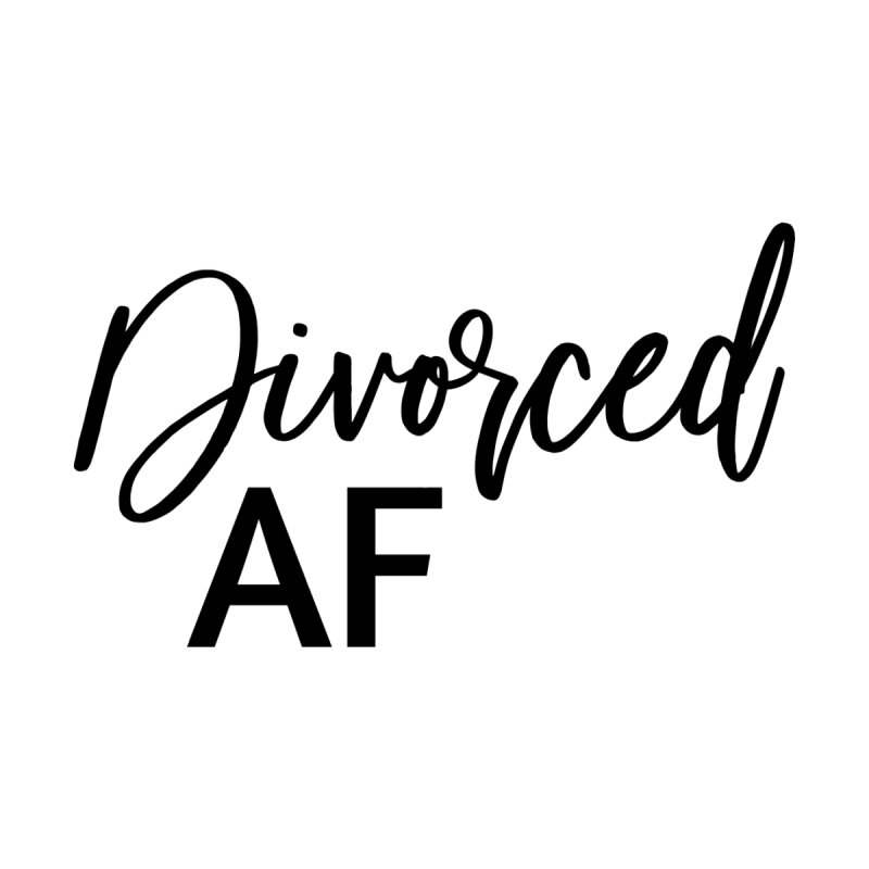 Divorced AF 2 - Black Logo Men's T-Shirt by