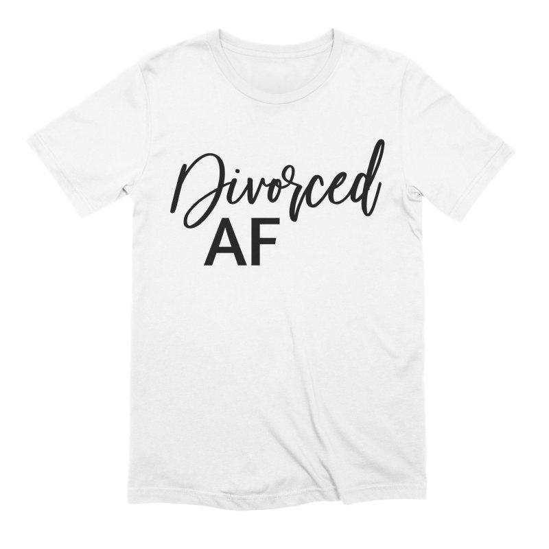 Divorced AF 2 - Black Logo in Men's Extra Soft T-Shirt White by
