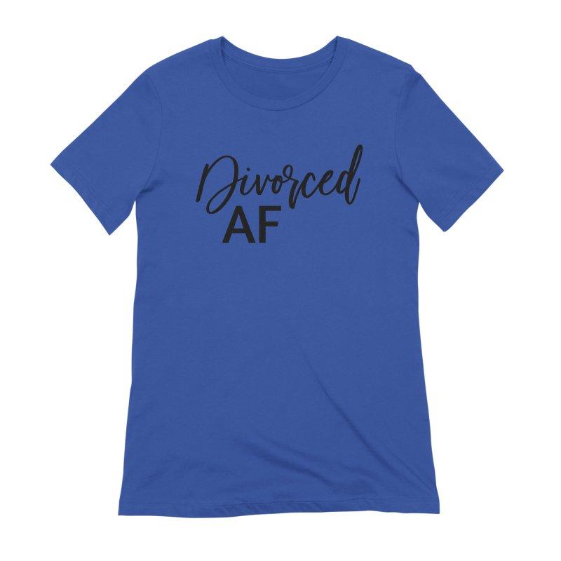 Divorced AF 2 - Black Logo Women's T-Shirt by