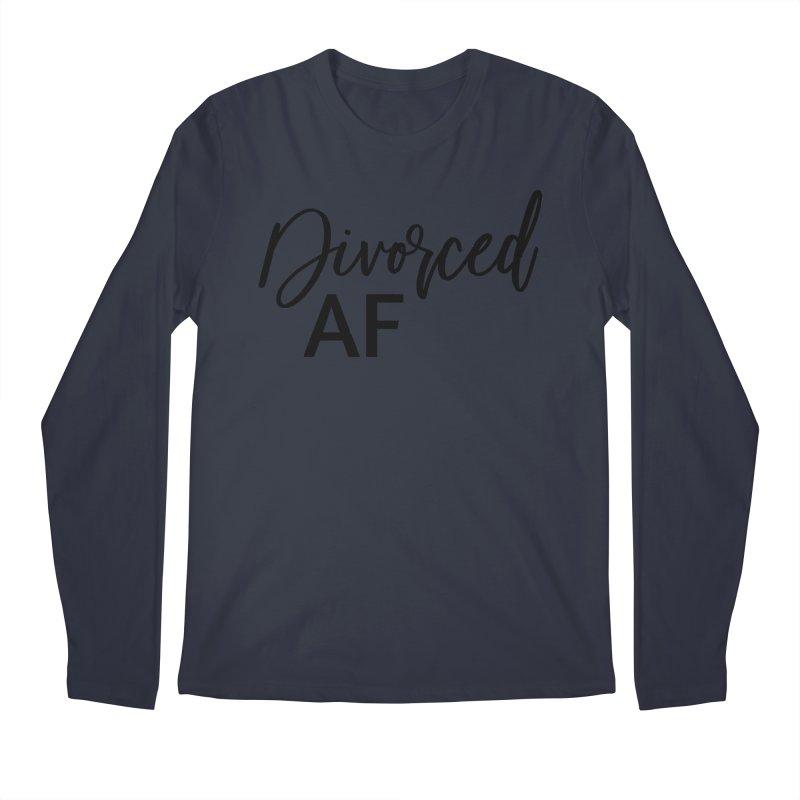 Divorced AF 2 - Black Logo Men's Longsleeve T-Shirt by