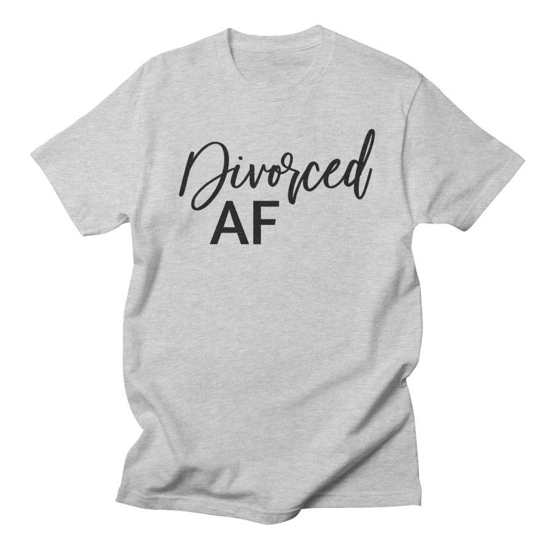 Divorced AF 2 - Black Logo Men's T-Shirt by