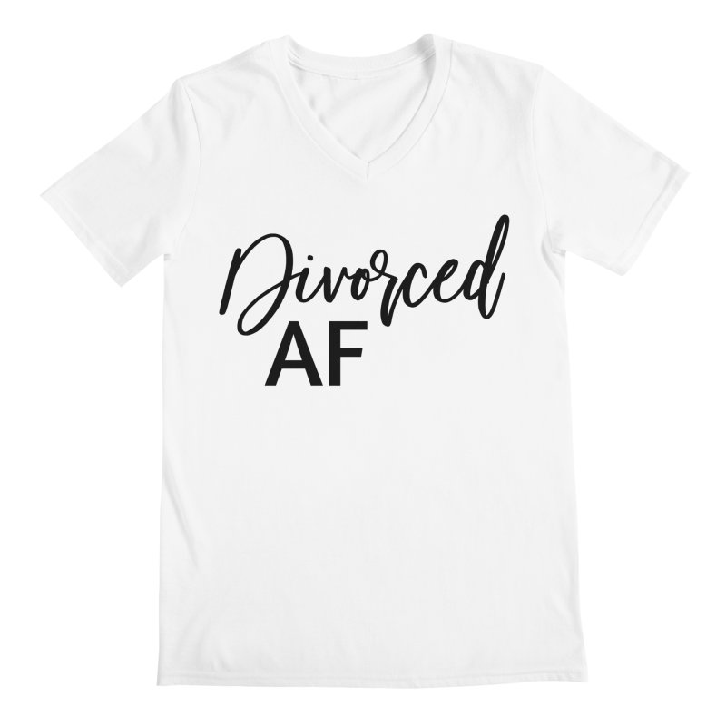 Divorced AF 2 - Black Logo Men's V-Neck by