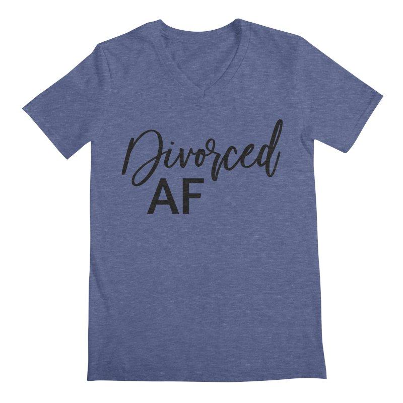 Divorced AF 2 - Black Logo Men's V-Neck by