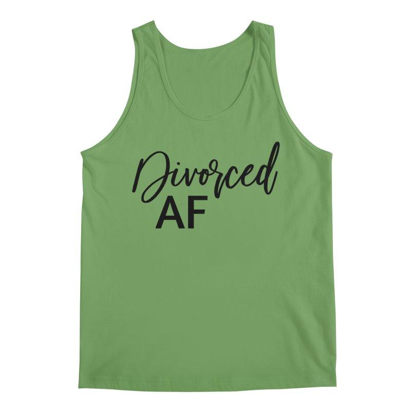 Divorced AF 2 - Black Logo Men's Tank by