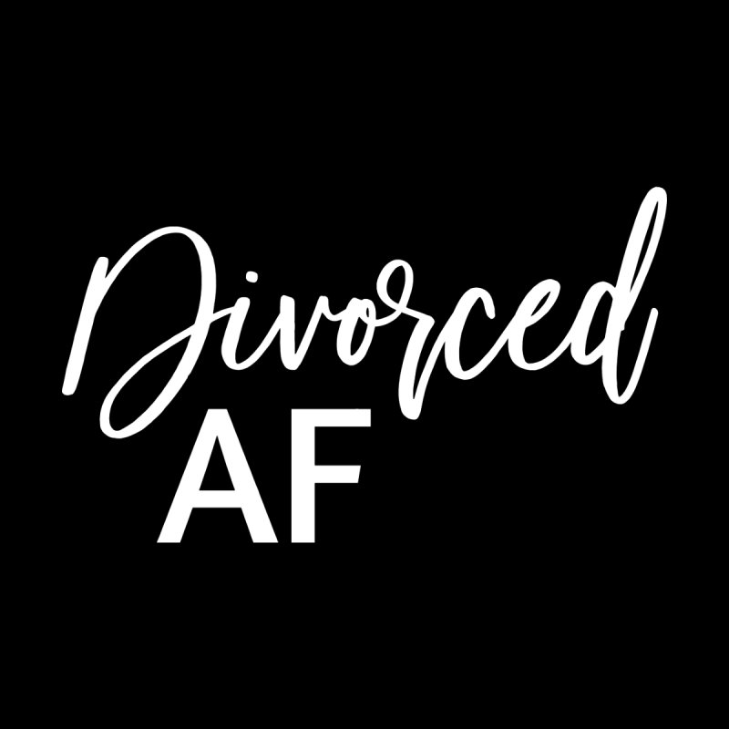 Divorced AF 2 - White Logo Men's T-Shirt by