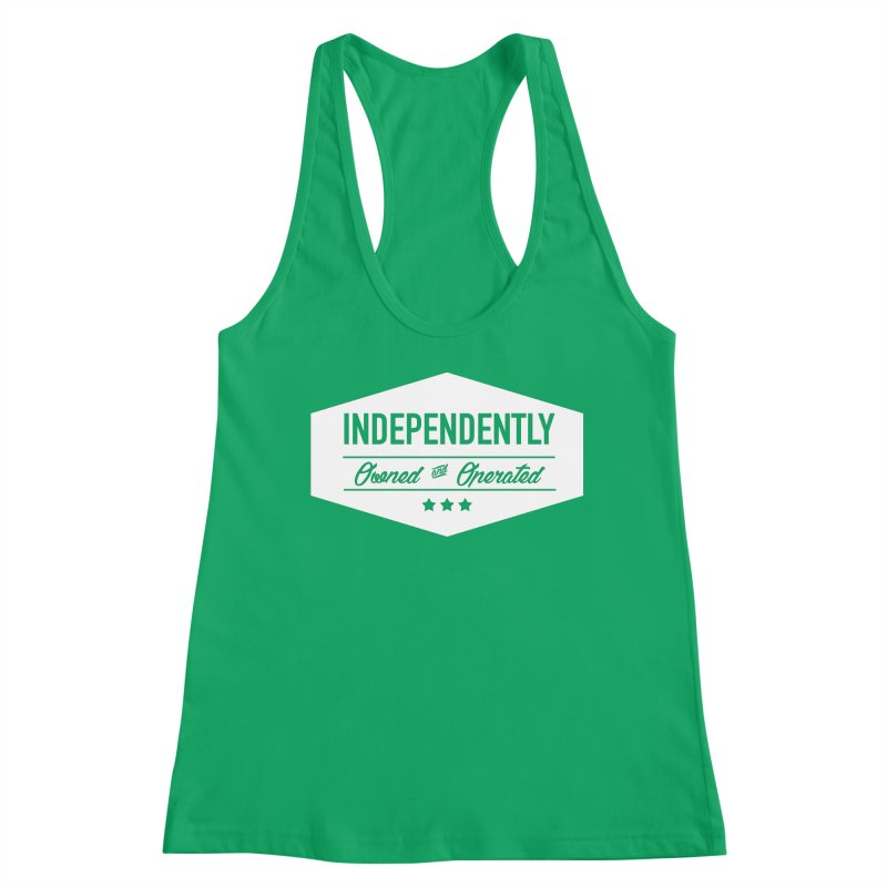 Independently Owned & Operated - White Logo Women's Tank by
