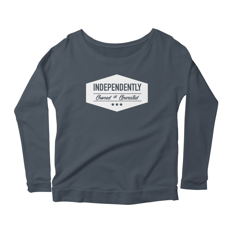 Independently Owned & Operated - White Logo Women's Longsleeve T-Shirt by