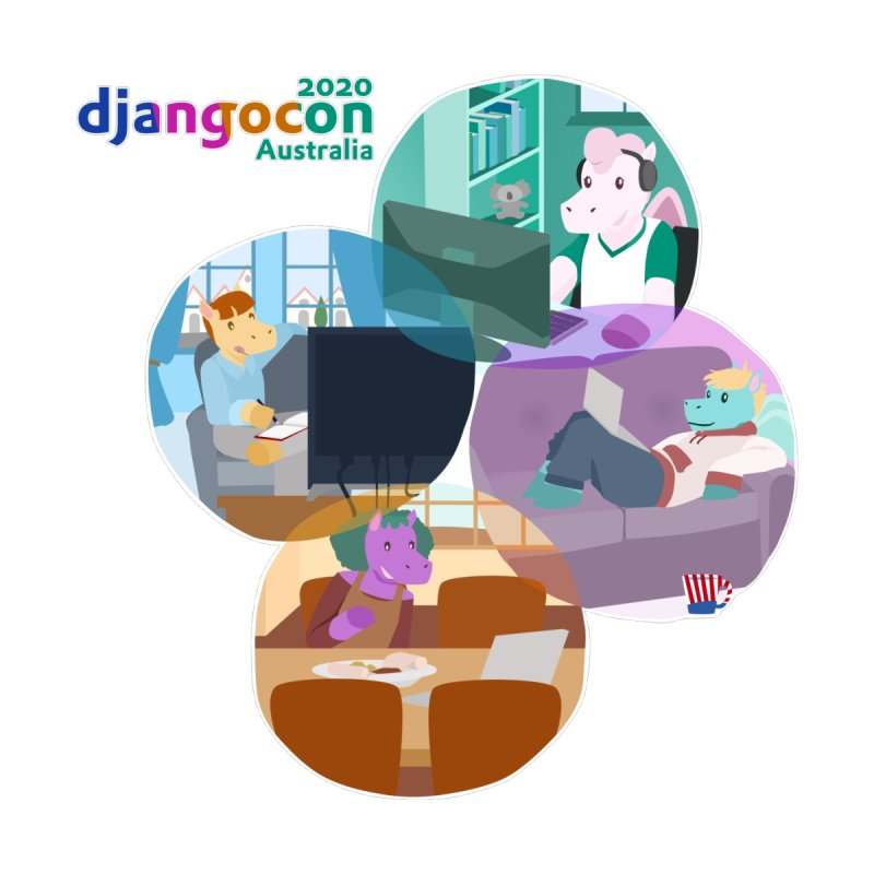 DjangoCon Australia 2020 Men's T-Shirt by Django Software Foundation Store