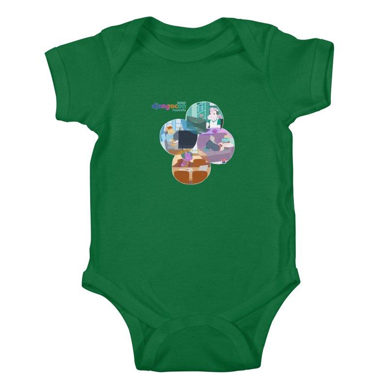 DjangoCon Australia 2020 Kids Baby Bodysuit by Django Software Foundation Store