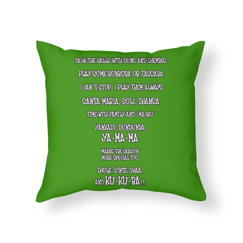 LIMITED EDITION!  Djembe Djingle! Home Throw Pillow by DJEMBEFOLEY Shop
