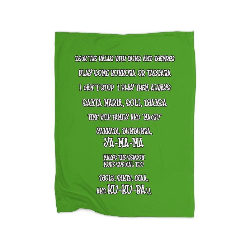 LIMITED EDITION!  Djembe Djingle! Home Fleece Blanket Blanket by DJEMBEFOLEY Shop