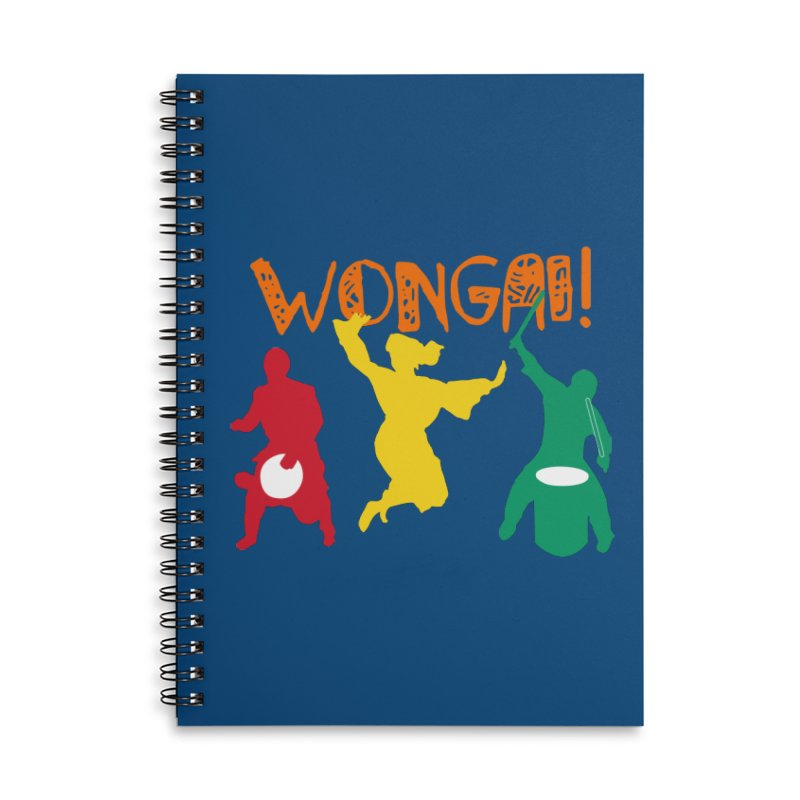 Wongai! Accessories Lined Spiral Notebook by DJEMBEFOLEY Shop