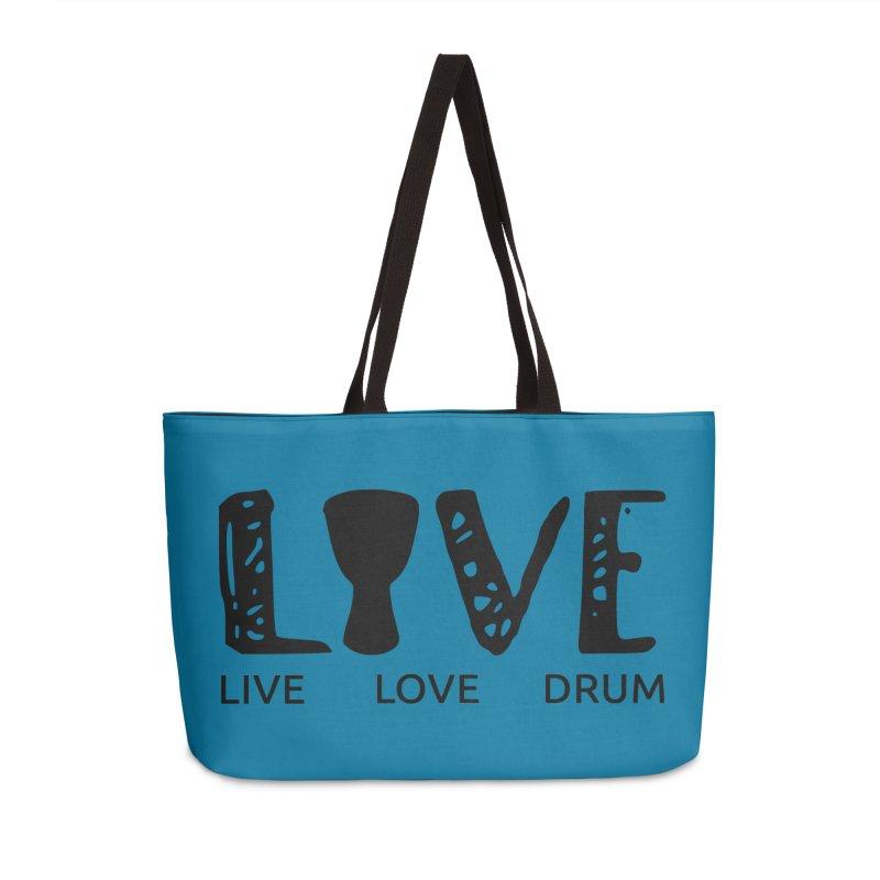 Live・Love・Drum Accessories Weekender Bag Bag by DJEMBEFOLEY Shop