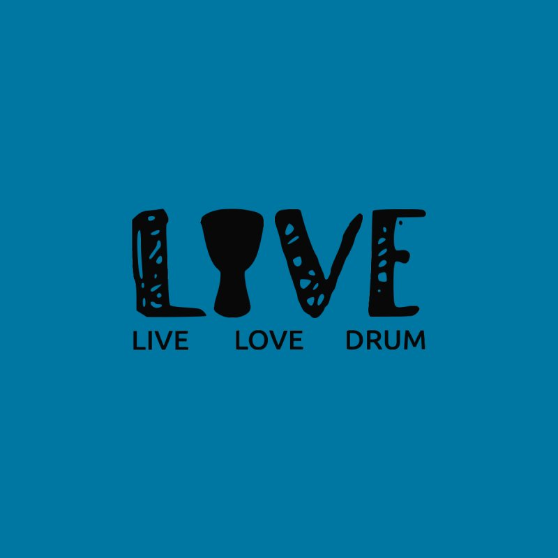 Live・Love・Drum Kids T-Shirt by DJEMBEFOLEY Shop