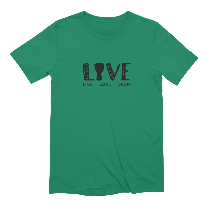 Live・Love・Drum Men's Extra Soft T-Shirt by DJEMBEFOLEY Shop