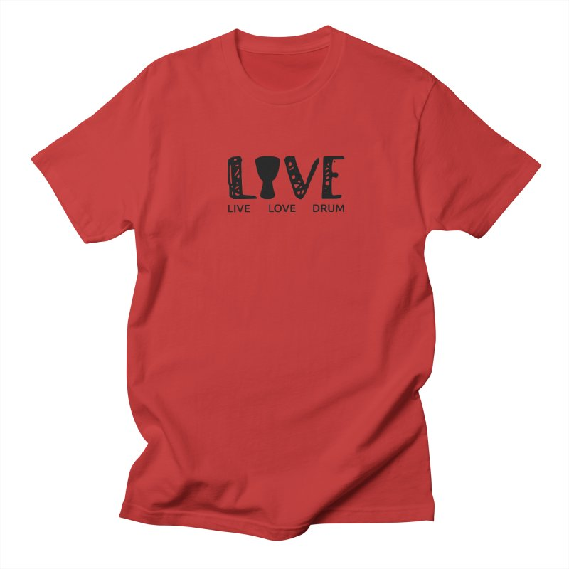 Live・Love・Drum Men's Regular T-Shirt by DJEMBEFOLEY Shop