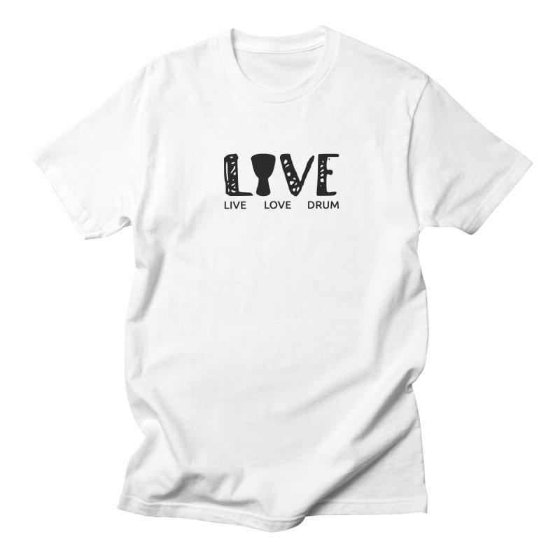 Live・Love・Drum Men's Regular T-Shirt by DJEMBEFOLEY Shop