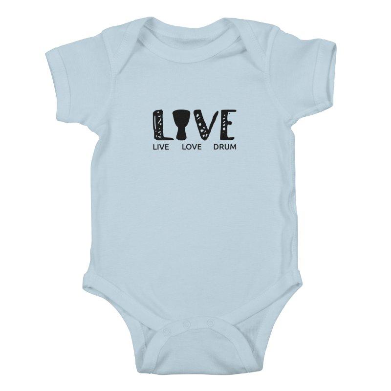 Live・Love・Drum Kids Baby Bodysuit by DJEMBEFOLEY Shop