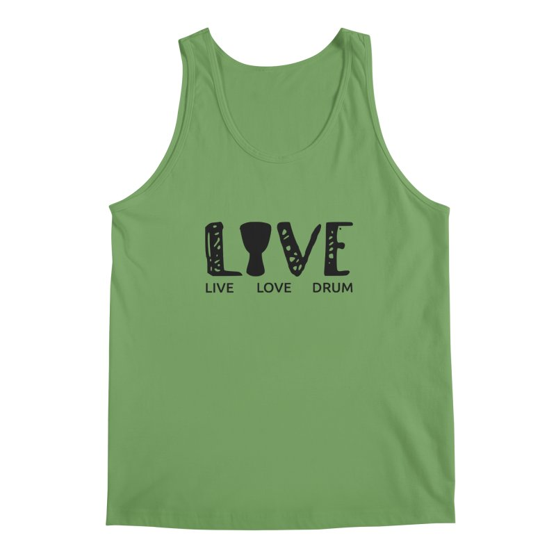 Live・Love・Drum Men's Tank by DJEMBEFOLEY Shop
