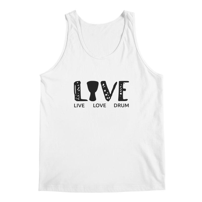Live・Love・Drum Men's Regular Tank by DJEMBEFOLEY Shop