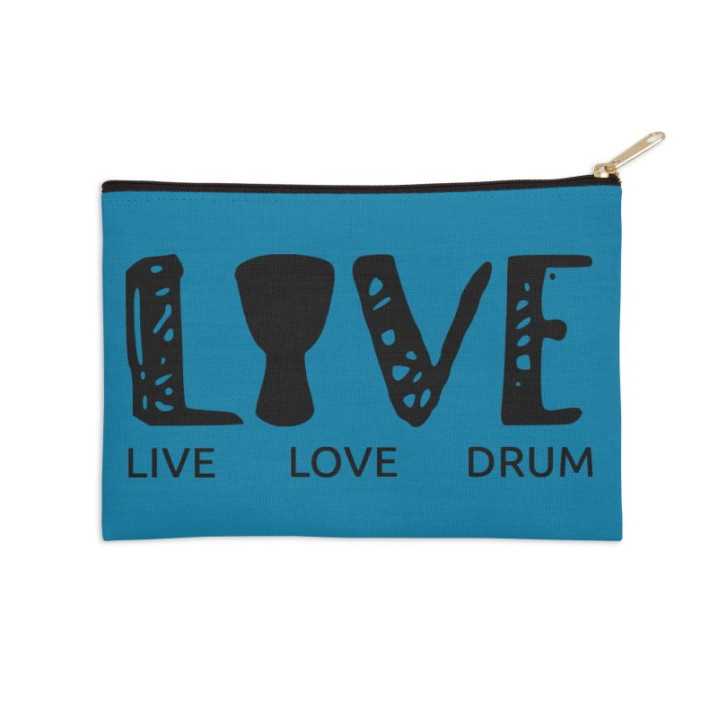 Live・Love・Drum Accessories Zip Pouch by DJEMBEFOLEY Shop