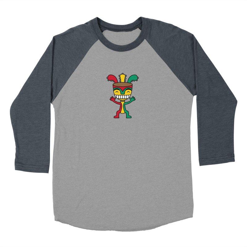 Djembehead Men's Baseball Triblend Longsleeve T-Shirt by DJEMBEFOLEY Shop
