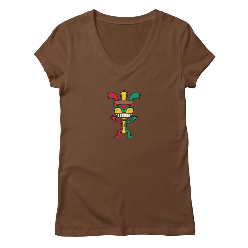 Djembehead Women's Regular V-Neck by DJEMBEFOLEY Shop