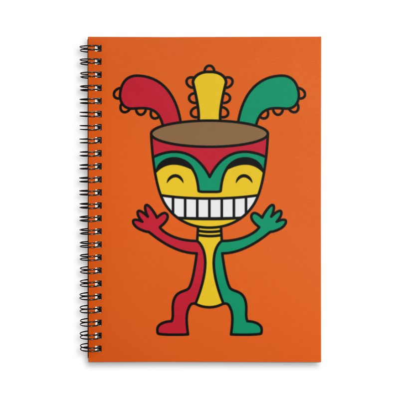 Djembehead Accessories Lined Spiral Notebook by DJEMBEFOLEY Shop