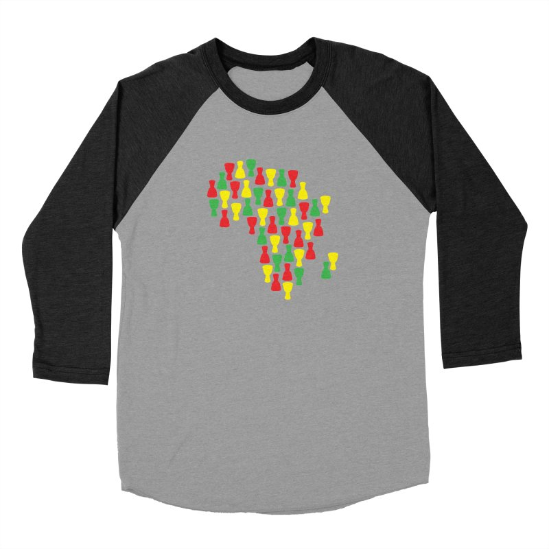 Djembe Africa Women's Baseball Triblend Longsleeve T-Shirt by DJEMBEFOLEY Shop