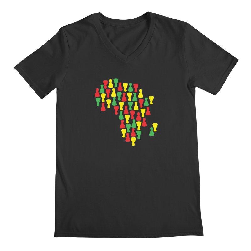 Djembe Africa Men's Regular V-Neck by DJEMBEFOLEY Shop