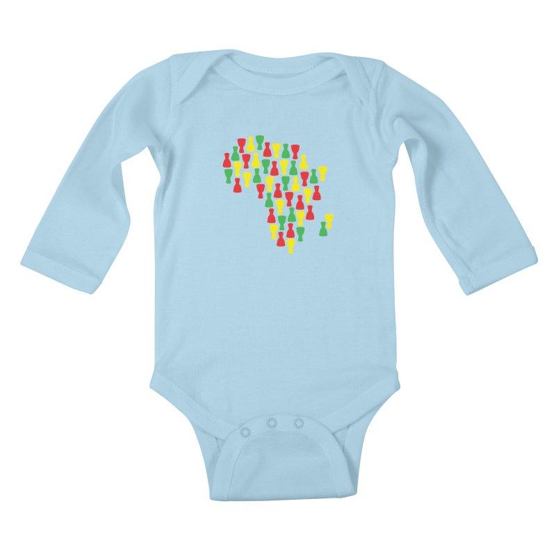 Djembe Africa Kids Baby Longsleeve Bodysuit by DJEMBEFOLEY Shop
