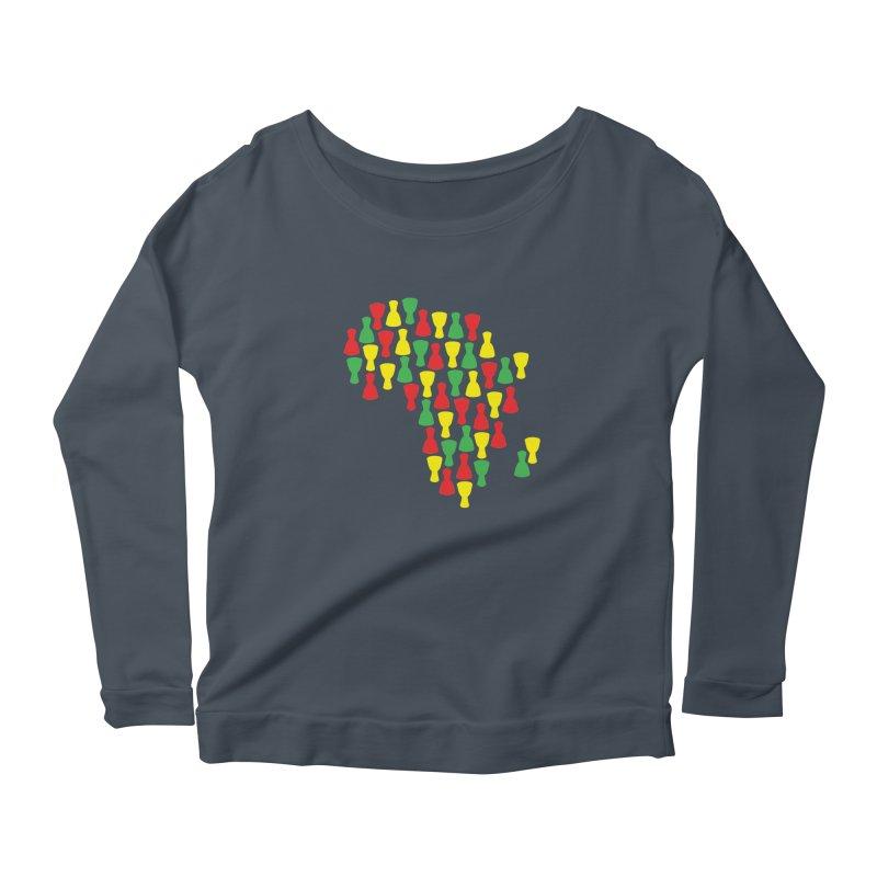 Djembe Africa Women's Scoop Neck Longsleeve T-Shirt by DJEMBEFOLEY Shop