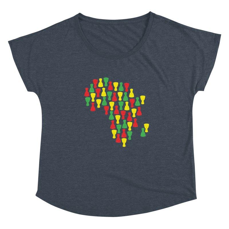Djembe Africa Women's Dolman Scoop Neck by DJEMBEFOLEY Shop