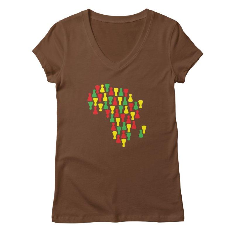 Djembe Africa Women's Regular V-Neck by DJEMBEFOLEY Shop