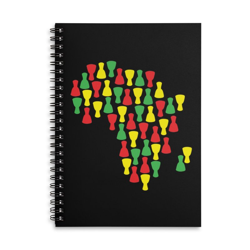 Djembe Africa Accessories Lined Spiral Notebook by DJEMBEFOLEY Shop