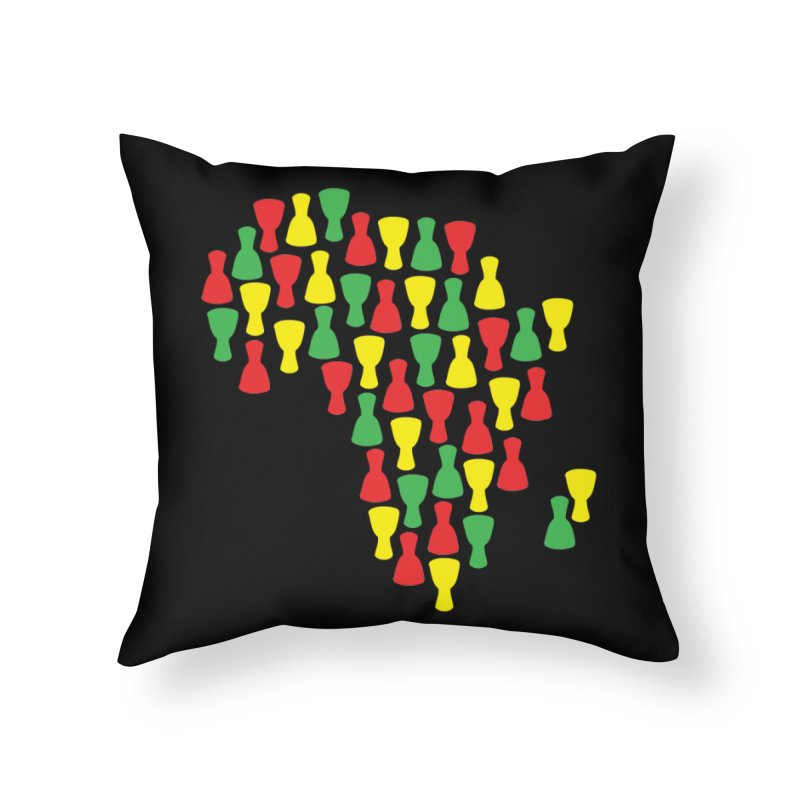 Djembe Africa Home Throw Pillow by DJEMBEFOLEY Shop