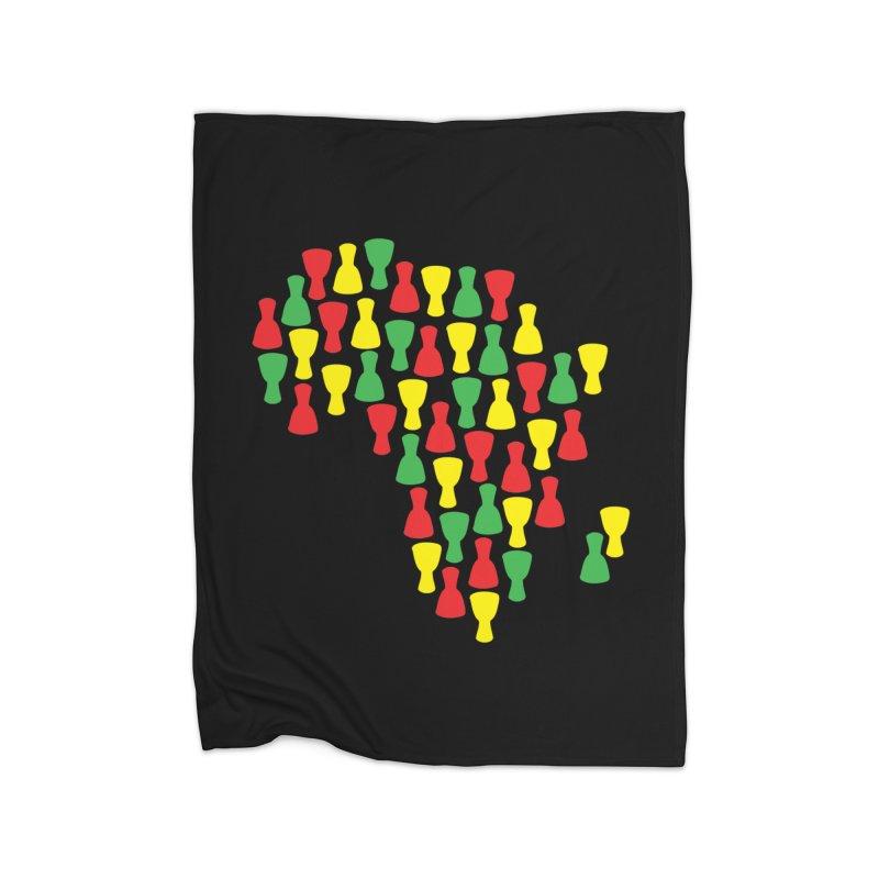 Djembe Africa Home Fleece Blanket Blanket by DJEMBEFOLEY Shop
