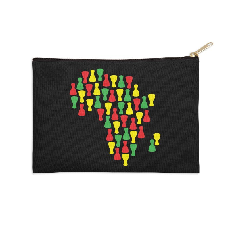 Djembe Africa Accessories Zip Pouch by DJEMBEFOLEY Shop