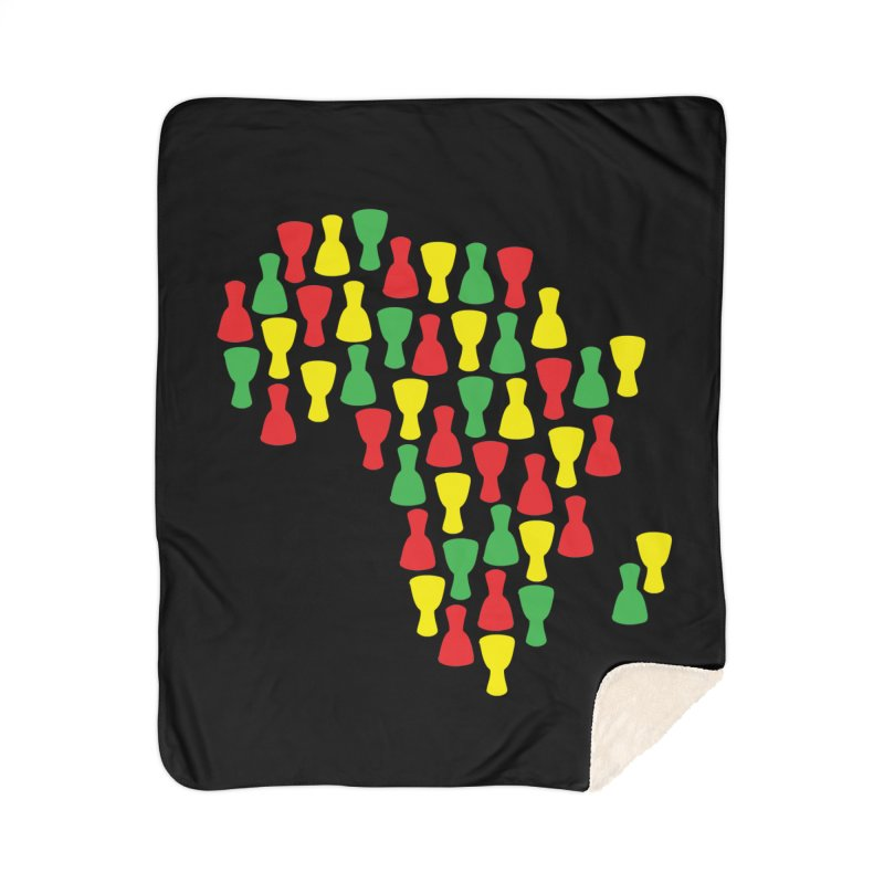 Djembe Africa Home Sherpa Blanket Blanket by DJEMBEFOLEY Shop